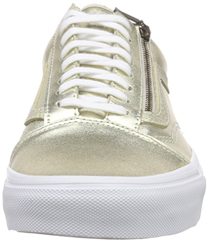 Vans Old Skool Zip, Baskets Basses Mixte Adulte Or (Metallic Leather/Wheat Gold/True White)