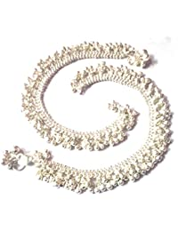 Utsav Collection Silver Plated Anklets for Women