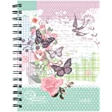 Herlitz Ladylike A5 Spiral Bound Notebooks (Pack of 2) Butterfly Design