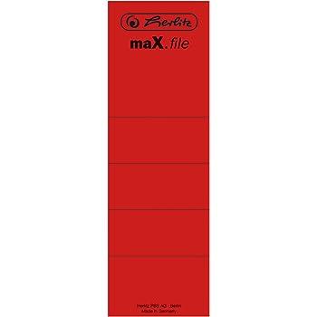 selbstklebend 10 St/ück im Polybeutel Herlitz 11000452 R/ückenschild 36 x 190 mm blau