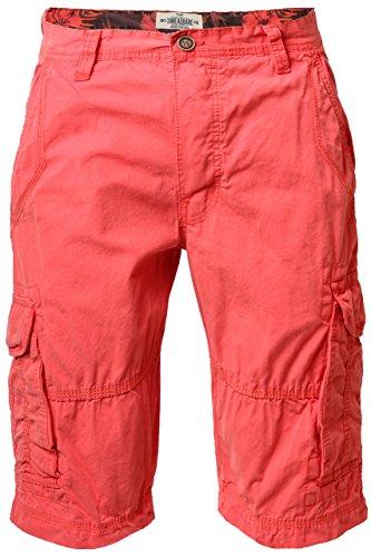 Uomo Threadbare SMT226B Design Chino Estate Cotone Pantaloncini Militari Con Tasche Gewaschen Orange