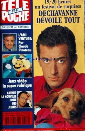 TELE POCHE [No 1389] du 21/09/1992 - DECHAVANNE - LINO VENTURA PAR CLAUDE PINOTEAU - ARTHUR.