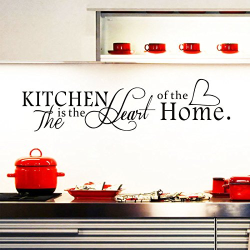 Buy ufengke the kitchen is the heart of home quotes and for Kitchen quote decals
