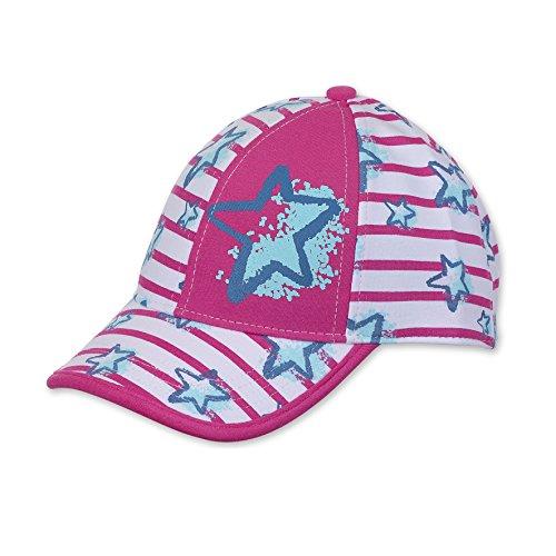 Sterntaler Baseball-Cap für Mädchen mit Größenregulierung, Streifenmuster und Sternenmotiv, Alter: ab 4-6 Jahre, Größe: 55, Knallviolett