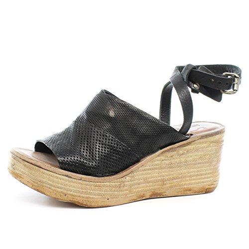 A.S.98Noa - Scarpe con cinturino alla caviglia Donna , nero (Nero (Nero)), 42 EU