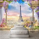 Papel Tapiz 3D Estéreo Columna De Roma Torre De París Murales Restaurante Sala De Estar Dormitorio Telón De Fondo Decoración De Pared 3D Personalizado Cualquier Tamaño Foto-(W)300x(H)210cm