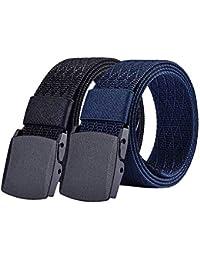 S.Lux Hombres Cinturón de Lona, YKK Hebilla de Plástico Cinturón de Secado Rápido Transpirable Hipoalergénico Cinturón Recreación al aire libre Fitness Ejercicio