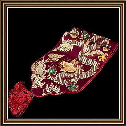 Classico Contemporaneo dragone cinese Brocade decor di stile Europeo tabella