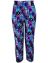 Pantalones mujer deporte Sannysis YOGA Pantalones Mallas para mujer (Púrpura, XL)