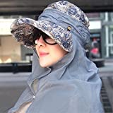 YANGFEIFEI-MZ Hat Frau Sommer Beach Hut schwarz-cap die Portiokappe sun-light Radfahren caps Hüte, Blau