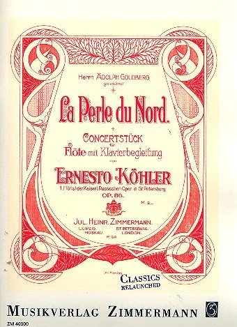 La perle du nord op.86 : für Flöte und Klavier
