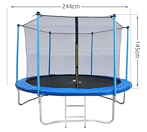 MALATEC Sicherheitsnetz für Trampoline - Fangnetz - Ersatznetz - 183 cm bis 427 cm für 6 bis 8 Stangen - Netz Innenliegend 2224, Größe:244 cm/ 6 Stangen