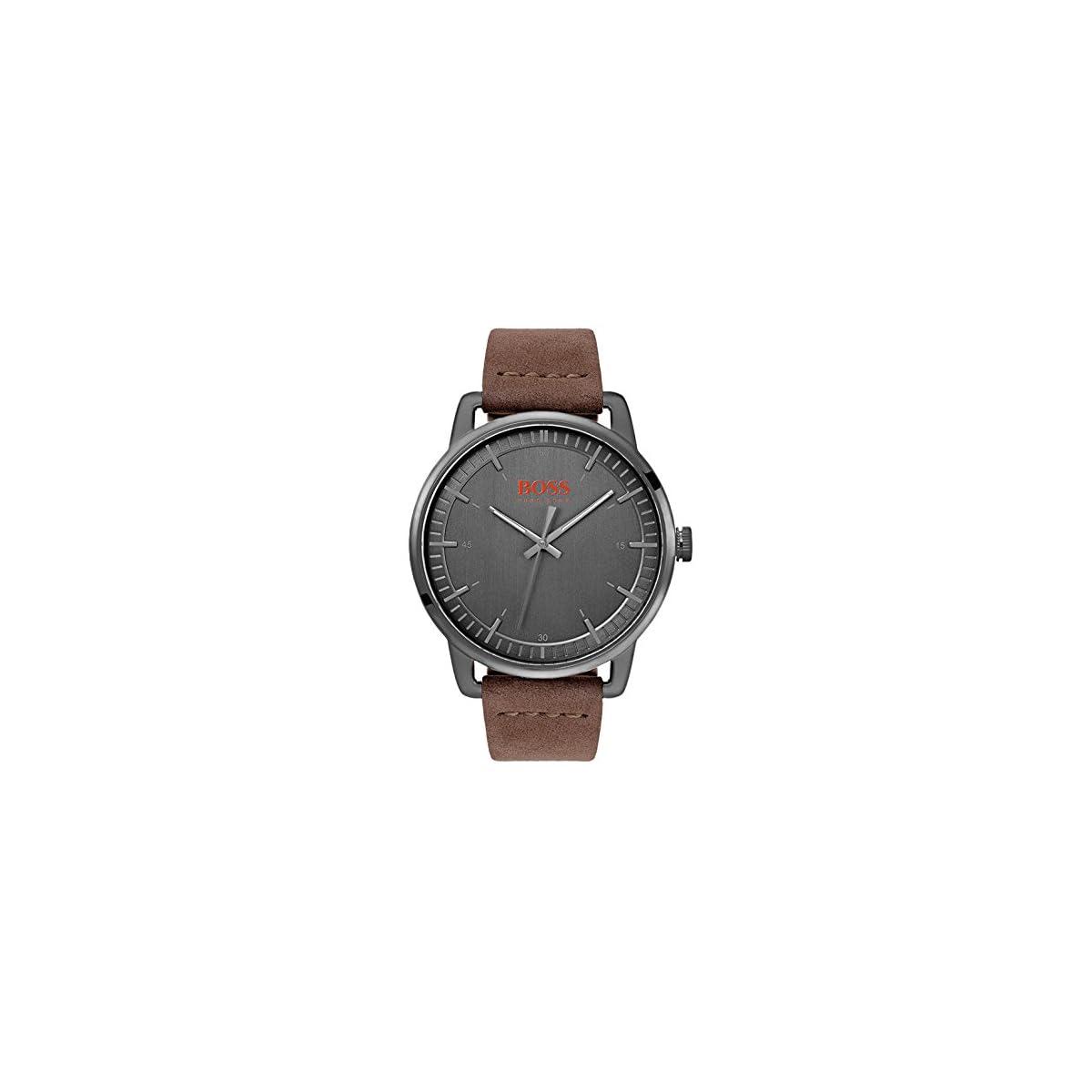 51nr0ICJbNL. SS1200  - Hugo Boss Orange Reloj Analógico para Hombre de Cuarzo con Correa en Cuero 1550074