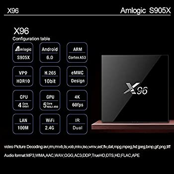 Aaahomeeu Android Tv Box 1+8g X96 Amogic Android 6.0 Quad Core Hd Smart Tv Box , 4k Tv Box Ultra 1080hd Intelligent For Home Cinema 3