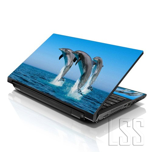 10 LSS 25,91 cm Notebook Sticker Skin Vinyl mit 17,78 cm 20,32 cm 22,61 cm 25,4 cm 25,91 cm HP Dell für Apple Lenovo Asus Acer (2 Wrist Pad inklusive gratis) Compaq Delfine