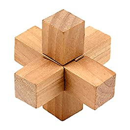 Isuper IQ Giocattolo Kongming Lock Wooden Interlocking 3D Jigsaw Puzzle Rompicapo Regalo per Bambini e Adulti (Hero)