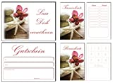 150 Teile Set SPARPREIS - je 50 Bonuskarten, Terminkarten, Gutscheine Seestern Kosmetik Beauty Spa Massage Wellness Kosmetikstudio Nails