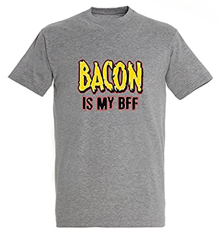 Bacon is my BFF Best Friend Forever Awesome Funny Men Homme Grey Melange T-shirt
