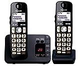 Panasonic KX-TGE722EB Big Button DECT Cordless Telephone with Nuisance Call Blocker & Digital Answering Machine (Twin Handset Pack) - Black