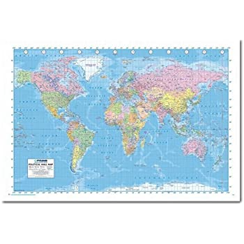 Political world map pin board framed in white wood includes pins political world map pin board framed in white wood includes pins 965 x 66 cms gumiabroncs Choice Image