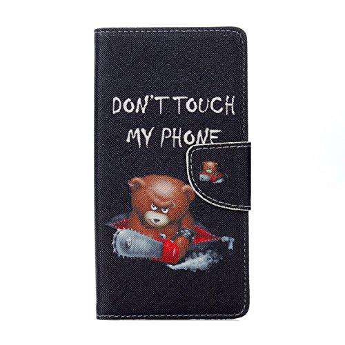 95Street Handyhülle für Wiko Freddy Schutzhülle Book Case für Wiko Freddy, Hülle Klapphülle Tasche im Retro Wallet Design mit Praktischer Aufstellfunktion