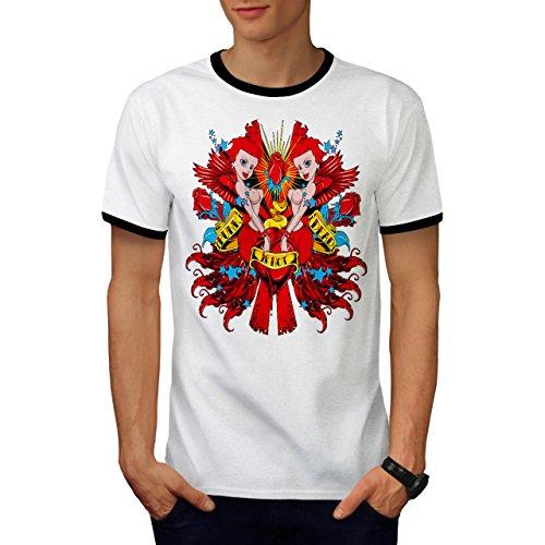 Punk ist Nicht Tot Sexy Meerjungfrau Herren XL Ringer T-shirt | Wellcoda