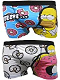 The Simpsons Homer Mens Boxer Trunks Dos Paquetes - S