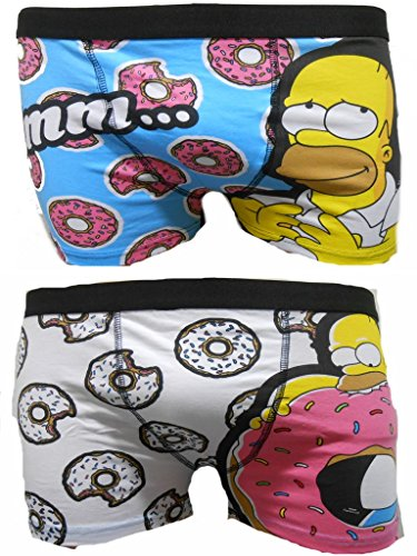 Die Simpsons Homer Herren Boxer Trunks 2 PK - XL (Simpson Homer Unterwäsche)