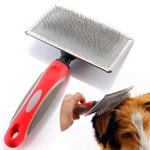 Hundebürste Katzenbürste Fellpflege Unterwollbürste Unterfellbürste für Mittel-& Lang-Haar Massage Hundekamm Fellkamm