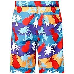 Ofgcfbvxd Longitud Mediana Piña roja Impression Pantalones de Playa de Verano Frescos y Ligeros Pantalones de Surf de Hombre Cómodos Chico Nadar Pantalones Cortos Bañador (Tamaño : S)