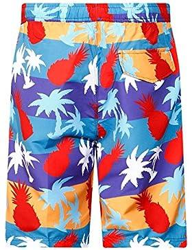 Zgsjbmh Pantalones de Playa de Verano Frescos y Ligeros Pantalones de Surf de Hombre Cómodos (Tamaño : S)