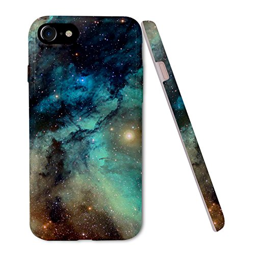 Cover iPhone 8 / iPhone 7 Silicone, ZUSLAB Silicone Morbido Cover Antiurto TPU Soft Touch con Disegni Effetto Universo Custodia Protettiva per Apple iPhone 8 / iPhone 7 - Stella Fascino
