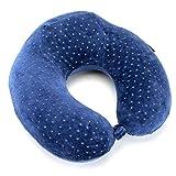 Almohada de Viaje de Espuma Viscoelástica - Reposacabezas patentado para vuelos y viajes, diseñado ergonómicamente con una funda suave de terciopelo transpirable, fácil de lavar - Neck pillow - Almohada relajante para el cuello de Opul