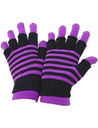 Damen Magic Gloves 2-in-1 Thermo-Handschuhe, gestreift
