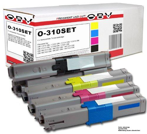 4x Kompatibler Toner für OKI C310 / C330 / C510 / C530...