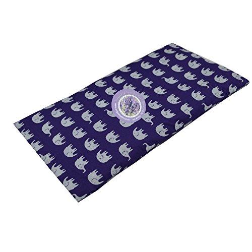 Yoga Studio cuscini per gli occhi in lavanda e semi di lino biologici francesi, Purple Elephant