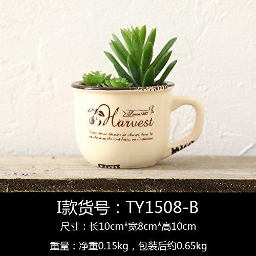 Eine idyllische kreative Emulation blühende Pflanzen Topfpflanzen Wohnzimmer TV Cabinet Office Setup in Abschnitt I) (Quilt-eimer Tasche)