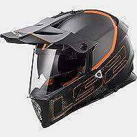 LS2 MX436 Adventure Pioneer Motorcycle Helmet Matt Black Titanium M (57-58cm)