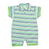 TupTam Baby Jungen Kurzarm Spieler mit Polokragen Baumwolle, Farbe: Streifenmuster Grün, Größe: 62