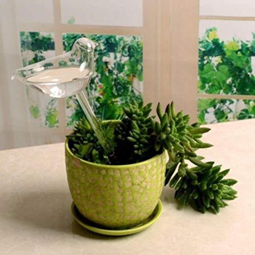 PTOBBA 6 Typen Glas Pflanze Blumen Wasser-Zufuhr-Selbstbewässerungs Vogel-Stern-Herz-Entwurf Pflanze Waterer Im Hausgarten, Vogel