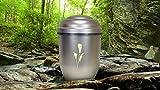 "Biologisch abbaubar Verbrennung Asche Urne–Erwachsenen-Größe–Antik Silber Design–""Fleur-de-Lys-"""