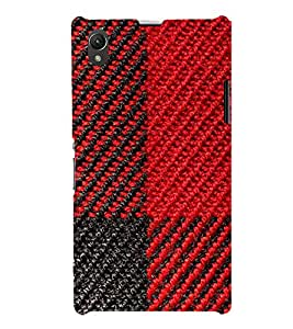 Red and Black Pattern 3D Hard Polycarbonate Designer Back Case Cover for Sony Xperia Z1 :: Sony Xperia Z1 Honami :: Sony Xperia Z1 C6902/L39h :: Sony Xperia Z1 C6903 :: Sony Xperia Z1 C6906 :: Sony Xperia Z1 C6943