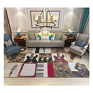 GOMAR Moquette di Grande Area tappeti di Spessore Antiscivolo e Durevole buona qualità Arte di Lusso Soggiorno intensivo,1,200cm×300cm