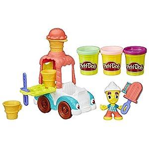 Play-Doh - Camión de helados con botes de plastilina (Hasbro B3417EU4)