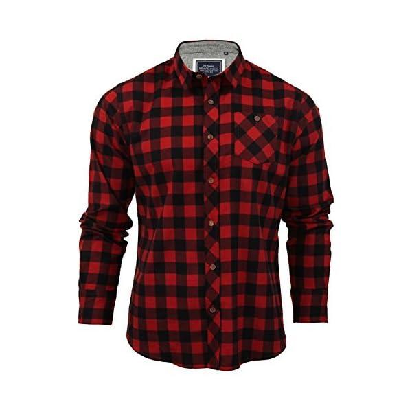 Brave Soul – Camisa de cuadros para hombre hecha con algodón Chambray.
