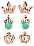 Maisha's Classic Turquoise Crown Earring...