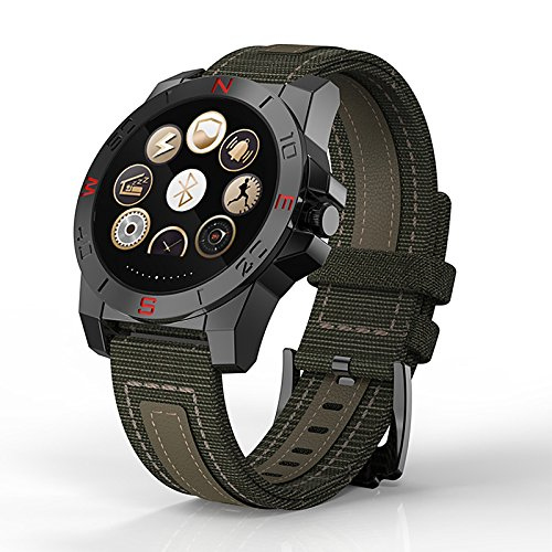 JINSHENG Smartwatch Android iOS Monitor de frecuencia Cardíaca Podómetros Mensaje recordatorio Podómetro medidor de Altura Sleep Tracker Cronómetro - Negro