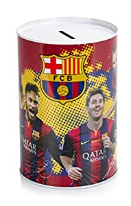 Tirelire Officielle FC Barcelone Barcelona, avec Lionel Messi, Neymar et d'autres images de joueur – Le parfait cadeau FC Barcelone
