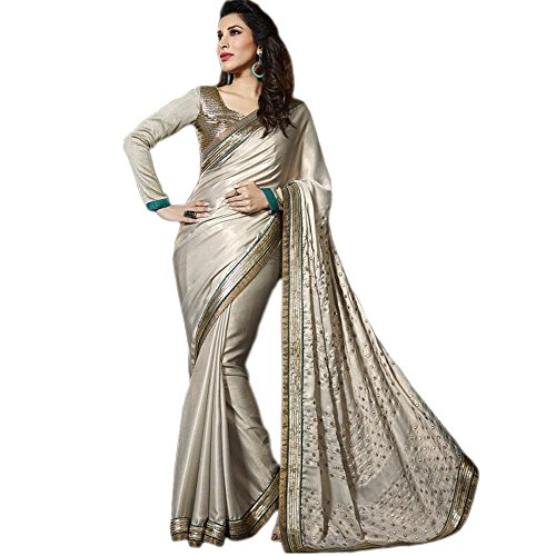 Generic Georgette Saree (Aryan_Eq10579_Off-White)