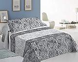 ForenTex Colchas Boras Cama 160/180 Reversible Decorativa Estampado con Relleno Ligero para Verano y Entretiempo, 3